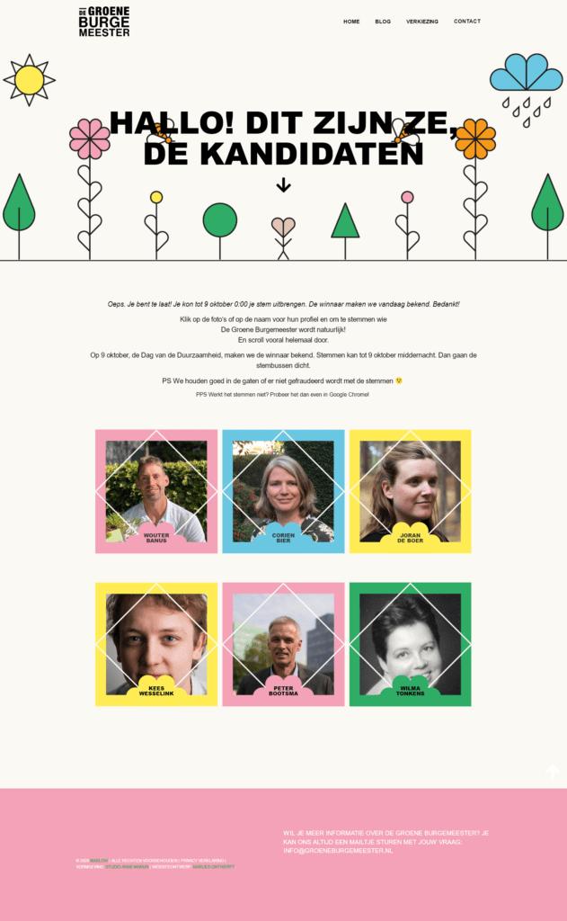 Website ontwikkeling voor de Groene Burgemeester